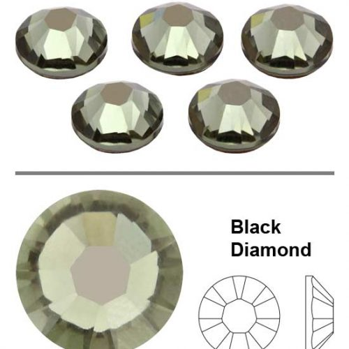 SW Crystal Rhinestones Black Diamond (215) SS3