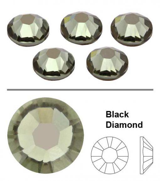 SW Crystal strasszkő Black Diamond (215) SS3