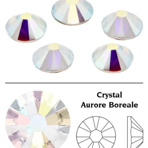 SW Crystal Rhinestones Crystal Clear (001AB) SS3