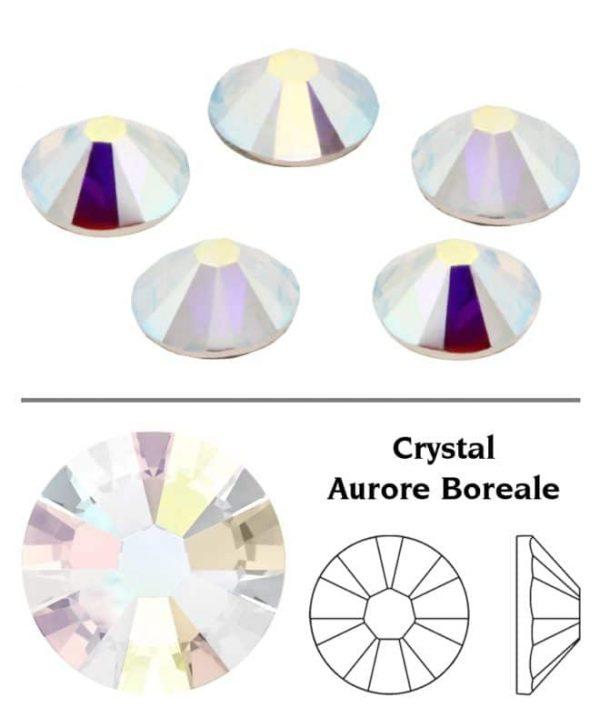 SW Crystal strasszkő Crystal Clear (001AB) SS3