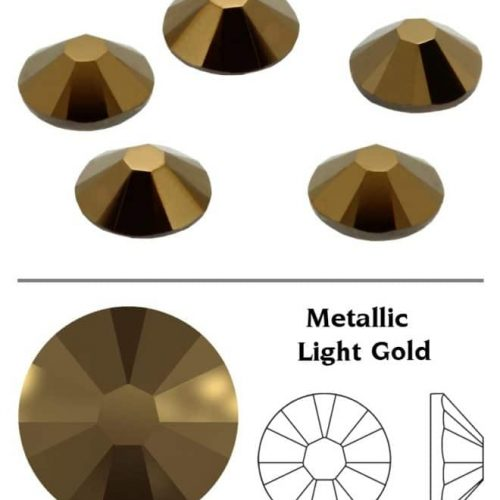 SW Crystal Rhinestones Metallic Light Gold (MLGLD) SS3