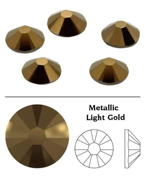 SW Crystal strasszkő Metallic Light Gold (MLGLD) SS3