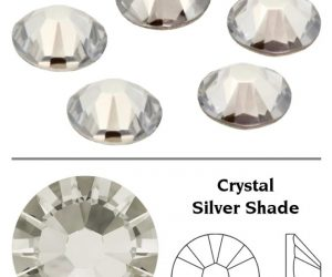 SW Crystal strasszkő Silver Shade (SSHA) SS3