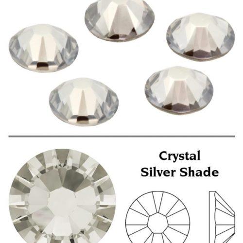 SW Crystal Rhinestones Silver Shade (SSHA) SS3
