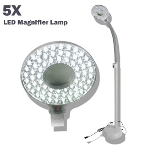5X MAGNIFYING COSMETIC LED LAPM, with rolling stand N207
