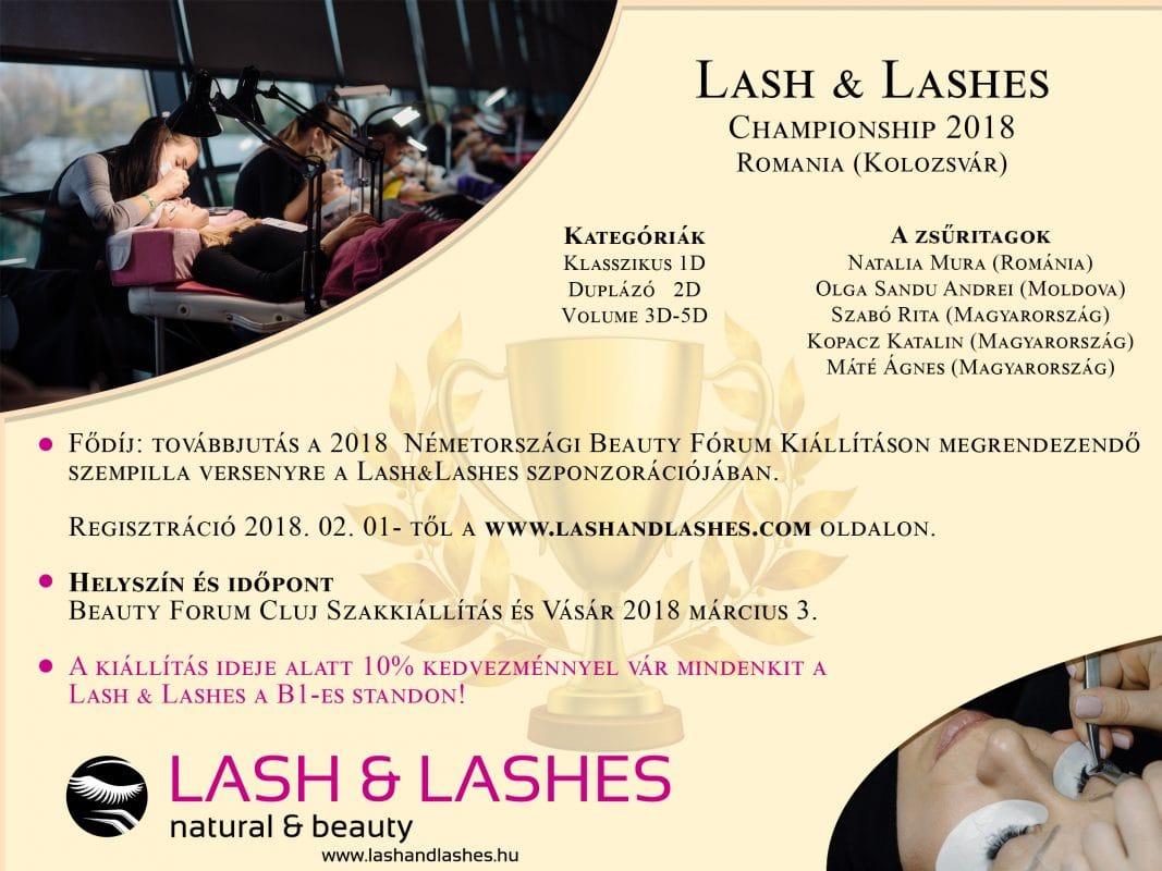 Lash and lashes championship 2018 Kolozsvár