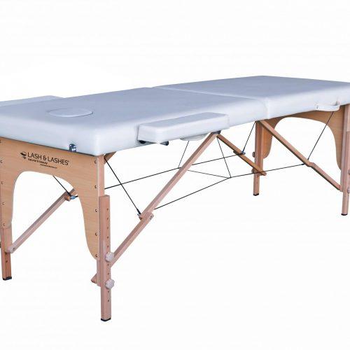 Pat masaj standard cu 2 compartimente, Alb, Pliabil
