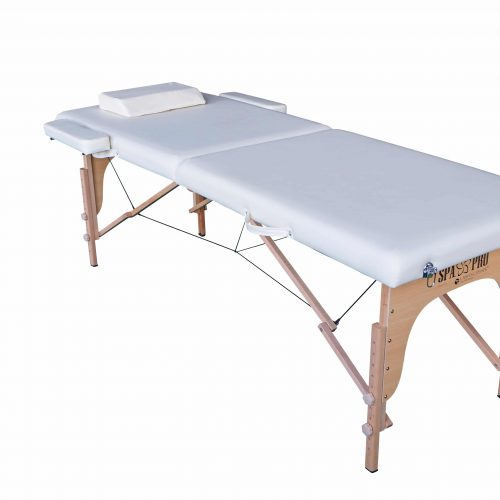 Standard Foldable Massage Table with 2 compartments, Cream