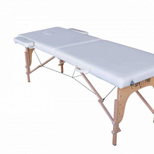 Pat masaj standard cu 2 compartimente, Crem, Pliabil