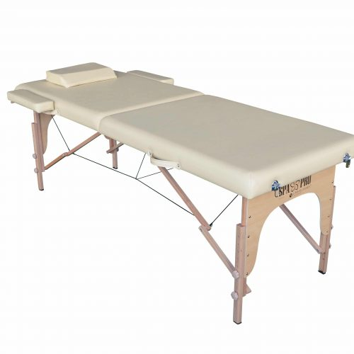 Standard Foldable Massage Table with 2 compartments, Beige