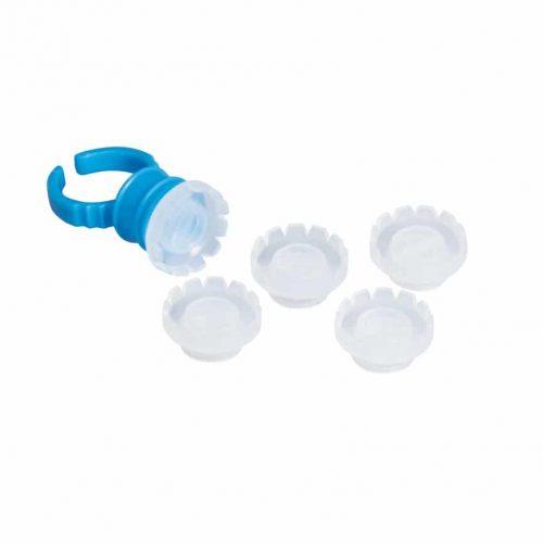 Ragasztótartó műanyag gyűrű 5db volume ragasztótartó tálkával