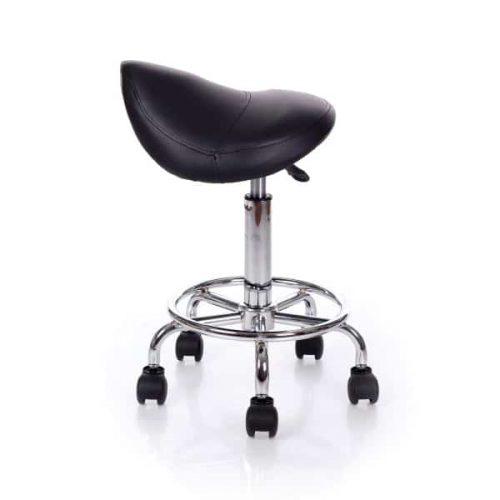Drehstuhl mit Sattelsitz Position.