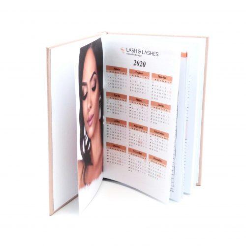 Lash & Lashes Schreibtisch tagebuch
