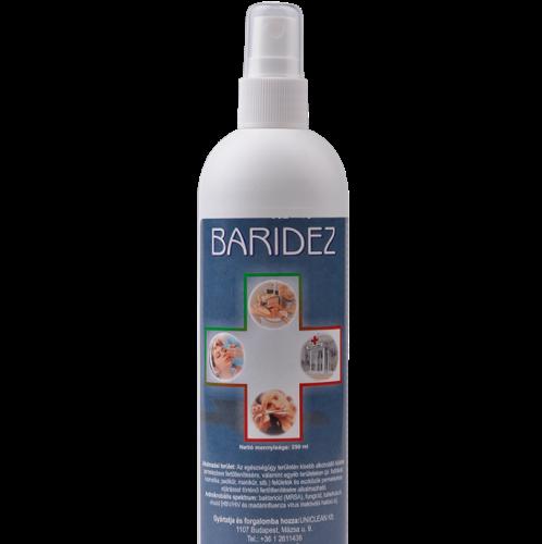 Baridez spray, felület fertőtlenítőszer 250ml.