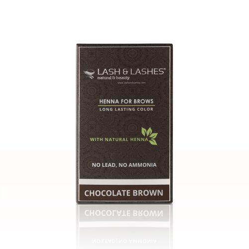 Henna Szemöldökfesték, Csokoládébarna (chocolate brown) – Mini kitt