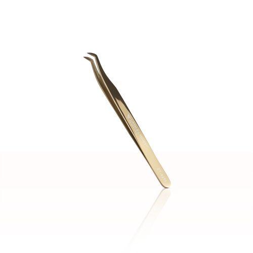 Pro-Volume Short Tip Wimpern pinzette #ZT-9235 (Plasma-Rose-Gold)