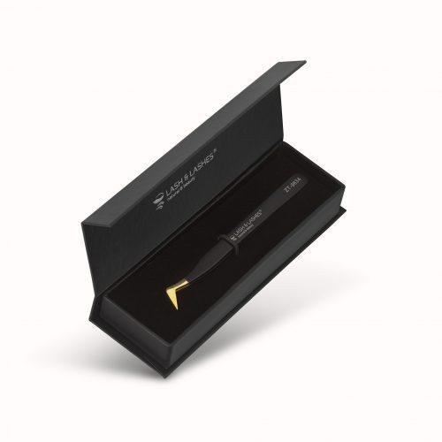 Pro-Volume Wimpern pinzette #ZT-9634 (Black, Gold tip)